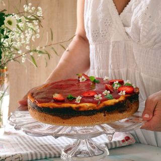 Torta morbida ricotta e fragole