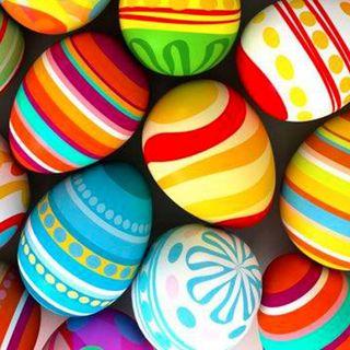 No palloncini   Uova di Pasqua   Uova sode colorate bio