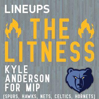 Kyle Anderson For MIP (Spurs, Hawks, Nets, Celtics, Hornets)