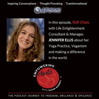 "Susan chats with ""Life Enlightenment"" consultant and manager, Jennifer Ellis."