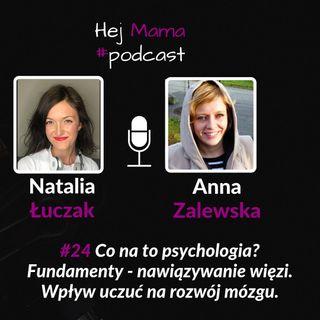 #024 - Co na to psychologia? - rozmowa z Anną Zalewską o typach więzi cz. 1