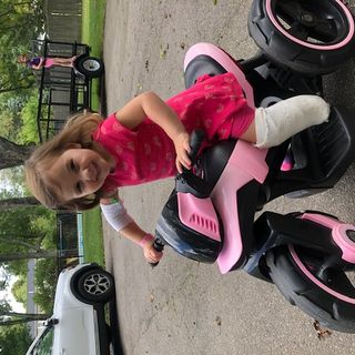 Franklin toddler keeps her happy disposition despite horrible lawnmower accident