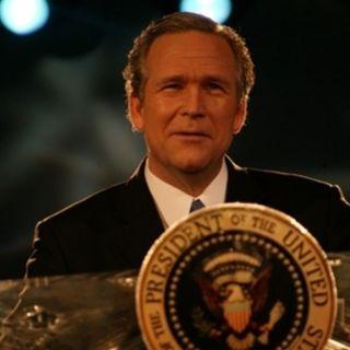 John Morgan as GW Bush and Trump