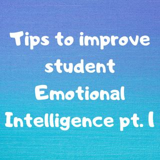 Tips to Improve Student Emotional Intelligence pt. 1
