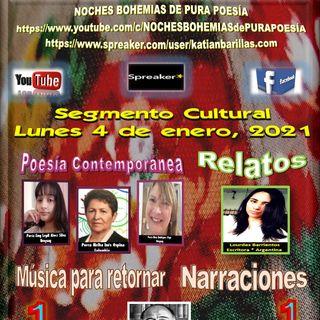 Segmento Cultural Noches Bohemias de Pura Poesía - Lunes 4 de enero, 2021