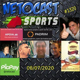 NETOCAST 1320 DE 08/07/2020 - ESPORTES - F1 - FUTEBOL - NBA - UFC