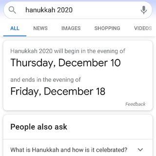 HANUKKAH STARTS 12/10/2020