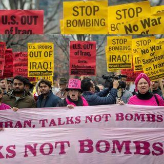 Protestan estadounidenses ante probable guerra con Irán