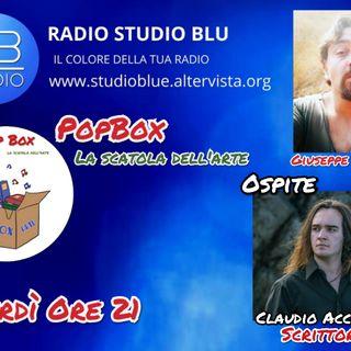 PopBox: La scatola dell'arte con Giuseppe Spataro ospite lo scrittore Claudio Accardi- ON AIR