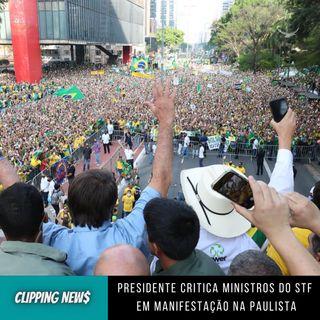 Presidente critica ministros do STF em manifestação na Paulista