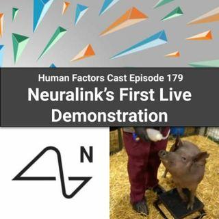 E179 - Neuralink's First Live Demonstration