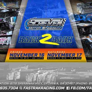 Saturday FASTRAK 2018 Championship 50 Lap Feature Finale From Screven Motorsports Complex!!