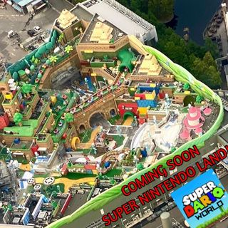 Aerial Shots Of Super Nintendo Land Emerge!