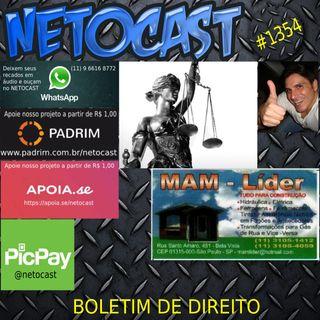 NETOCAST 1354 DE 21/09/2020 - BOLETIM DE DIREITO