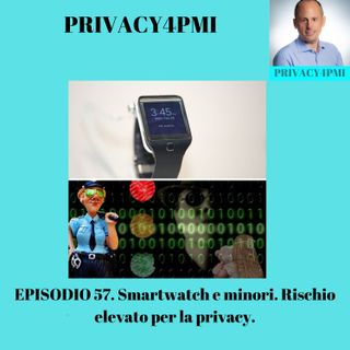 EPISODIO 57 Smartwatch e minori. Rischio elevato per la privacy