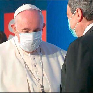 Mario Draghi e Papa Francesco agli Stati Generali della Natalità