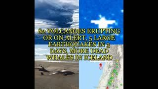 82 VOLCANOES ERUPTING OR ON ALERT, 5 LARGE EARTHQUAKES IN 3 DAYS, MORE DEAD WHALES IN ICELAND