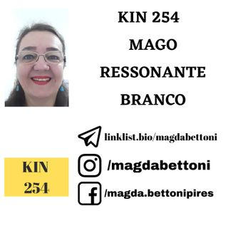 KIN 254 - MAGO RESSONANTE BRANCO - 20ª Onda Encantada do Tzolkin