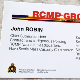Mass Casualty Commission and a business card of concern