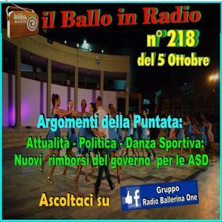 il ballo in radio 218 di Tony Mantineo N° 218