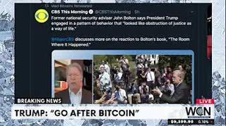 """Trump """"Go After Bitcoin"""" and other news stories - $9427 #THS"""