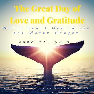 Stamattina Meditazione Amore e Gratitude 2018!