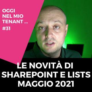 Le novità di SharePoint e Lists maggio 2021