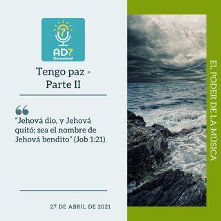27 de abril - Tengo paz - II - Devocional de Jóvenes - Etiquetas Para Reflexionar