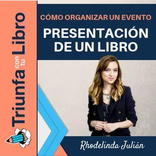 Cómo organizar un evento: Presentación de un libro