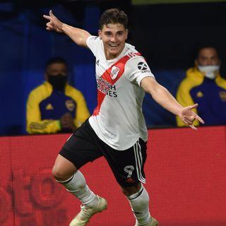 Gol de River: Julián Álvarez 1-1