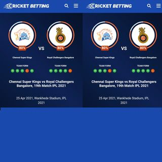 Chennai Super Kings vs Royal Challengers Bangalore, 19th Match IPL 2021