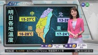 21:33 週末天氣晴朗舒適 受東北季風影響除夕有雨 ( 2019-02-01 )