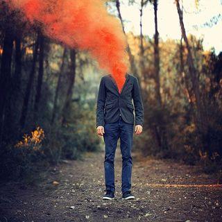 Human Smoke Bomb