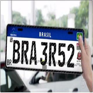 Brasil vai a adotar placas de carros padrão do MERCOSUL