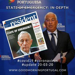 Covid19 Coronavirus Update 20-03-20 (For Portugal, in English)