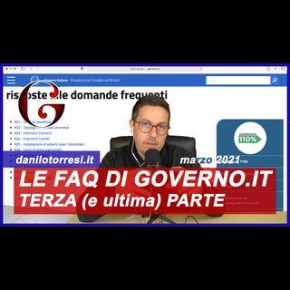 SUPERBONUS 110%: le FAQ del sito ufficiale del Governo (terza parte)