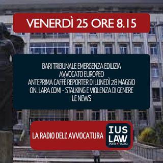EMERGENZA EDILIZIA A BARI | AVVOCATO EUROPEO - Venerdì 25 Maggio 2018  #Svegliatiavvocatura