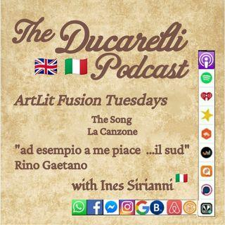 Ducarelli ArtLit Tuesdays Rino Gaetano Ines Sirianni