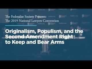 Originalism, Populism, and the Second Amendment Right to Keep and Bear Arms