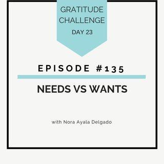 #135 GRATITUDE: Needs vs Wants