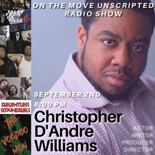 FilmMaker Christopher D Williams stopped by to speak with Patricia M. Goins & Mr. Stout