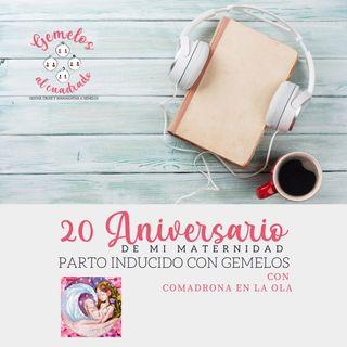 Podcast 20 Aniversario Mi maternidad de Gemelos: la Inducción del parto gemelar, con Comadrona en la ola.