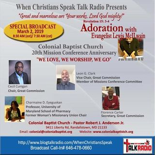 Adoration Special:  Colonial Baptist Church Great Commission Ministry