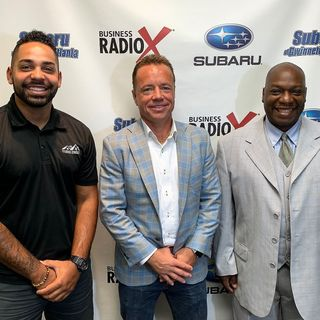 John Garner of OneDigital, Alton Grose of Southern Standard Roofing & Exteriors, and Walil Archer of Downtown Hott Radio