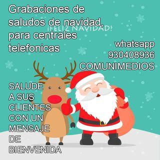 Grabaciones de Saludos de navidad para su IVR  centrale telefonicas