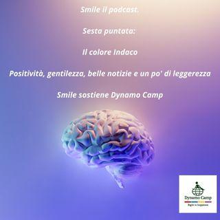 Smile e il colore Indaco . Positività,  gentilezza,  belle notizie e un po' di leggerezza.