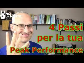 4 passi per innescare la tua Peak Performance - Perle di Coaching