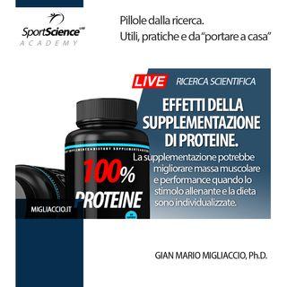 Effetti  della  supplementazione  di  proteine