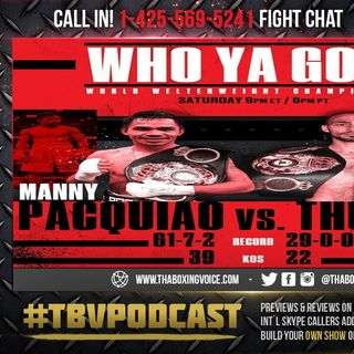 ☎️Manny Pacquiao vs Keith Thurman 🔥Live PPV Fight Chat💬