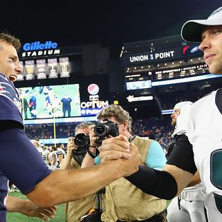 Tom Brady, Nick Foles Finally Connect After Super Bowl Controversy
